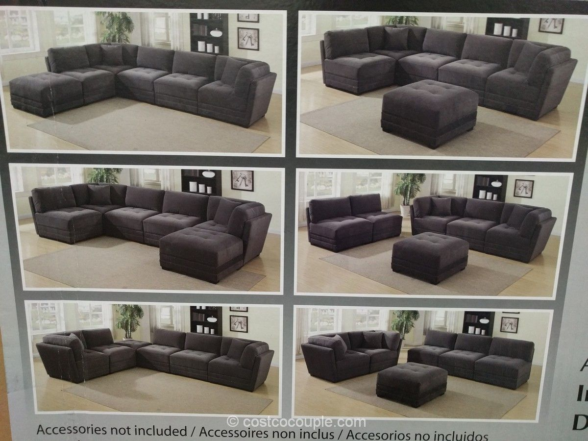 6 Piece Modular Fabric Sectional Costco Modular Sectional Sofa