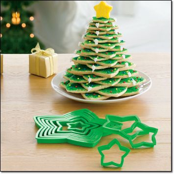 3d Christmas Tree Cookie Cutter Set Christmas Christmas Desserts