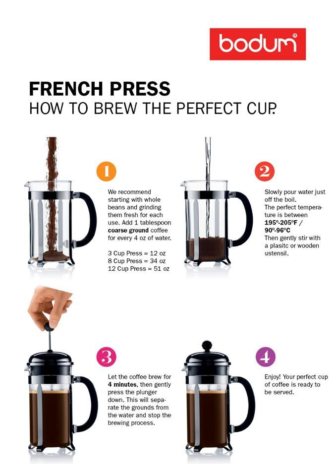 how to brew the perfect french press coffee breakfast pinterest french press coffee and. Black Bedroom Furniture Sets. Home Design Ideas