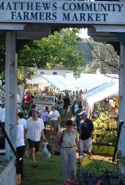 Charlotte, NC - The Matthews Community Farmers' Market is the largest, most diverse producers-only farmers' market in the greater Charlotte area. All food and other market products are grown, raised or made within 50 miles of Matthews.