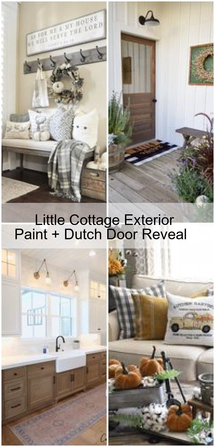 Little Cottage Exterior Paint  Dutch Door Reveal  Little Cottage Exterior Paint  Dutch Door Reveal