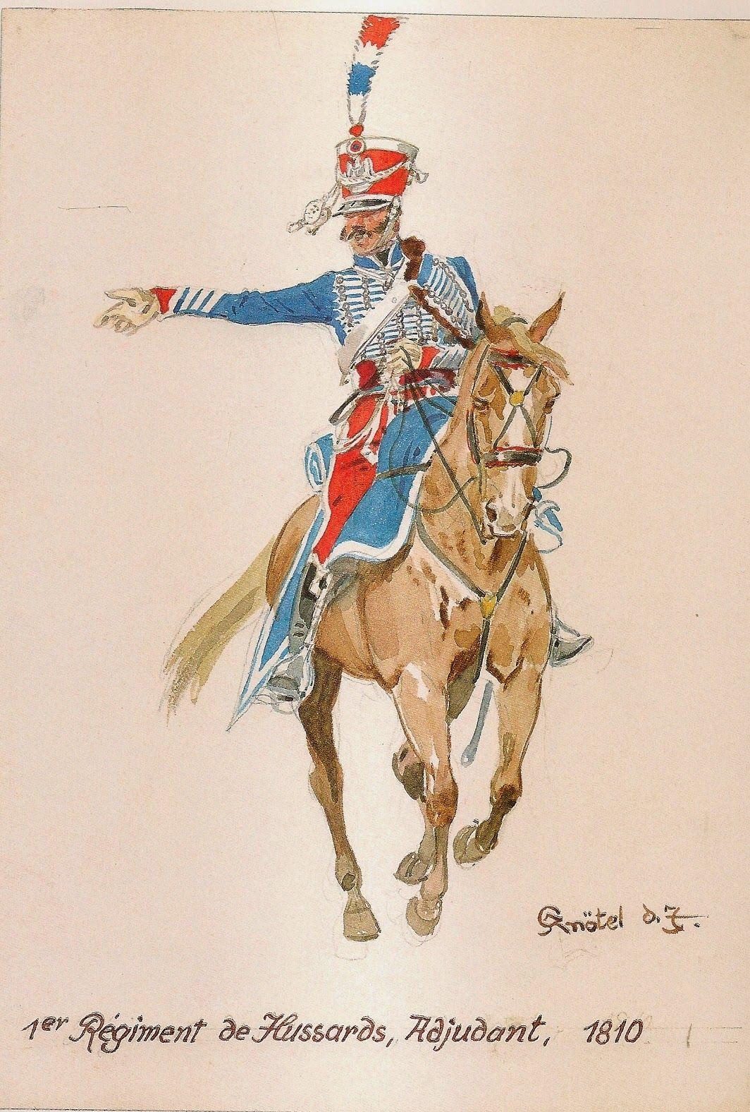 MINIATURAS MILITARES POR ALFONS CÀNOVAS: HUSSARS 1º REGIMENT, 1807-1813. ( Ilustraciones de Herbert KNÖTEL