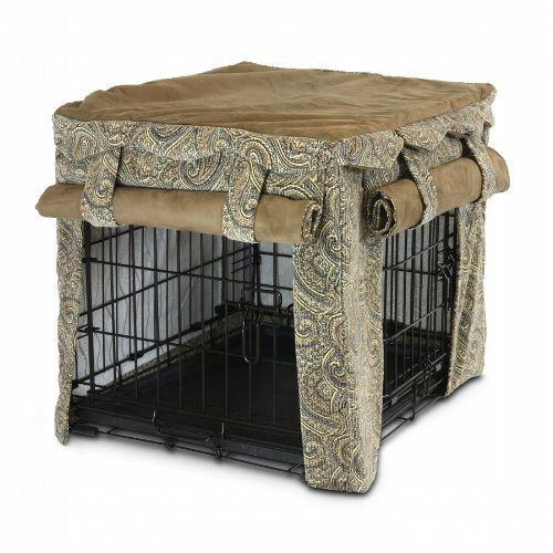Snoozer Cabana Pet Crate Cover, Medium, Sicilly/Coffee - http://www ...