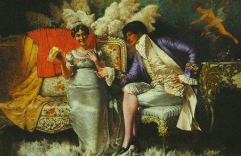 Flirtation by Frederick Judd Waugh