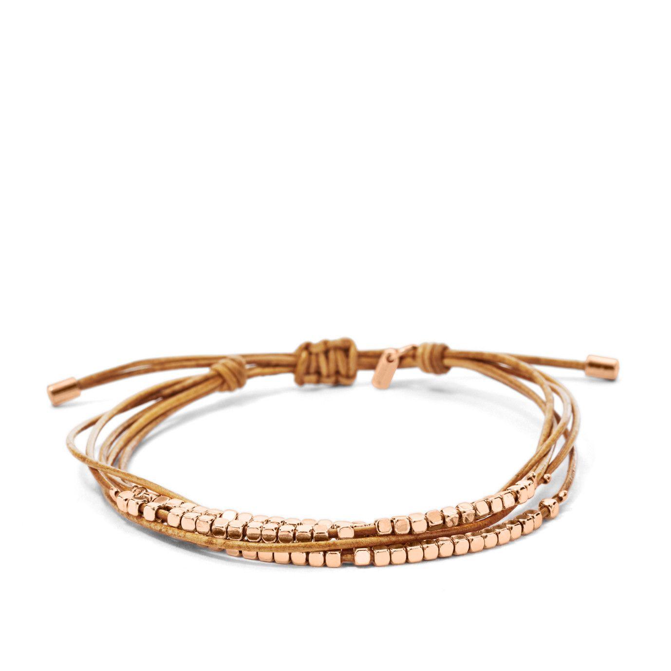 Damen Armband Dainty Rondel Slider JA6422 |FOSSIL®