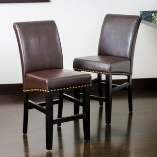 Christopher Knight Home Lisette Leather Counter Stool (Set of 2) | Overstock™ Shopping - Great Deals on Christopher Knight Home Bar Stools