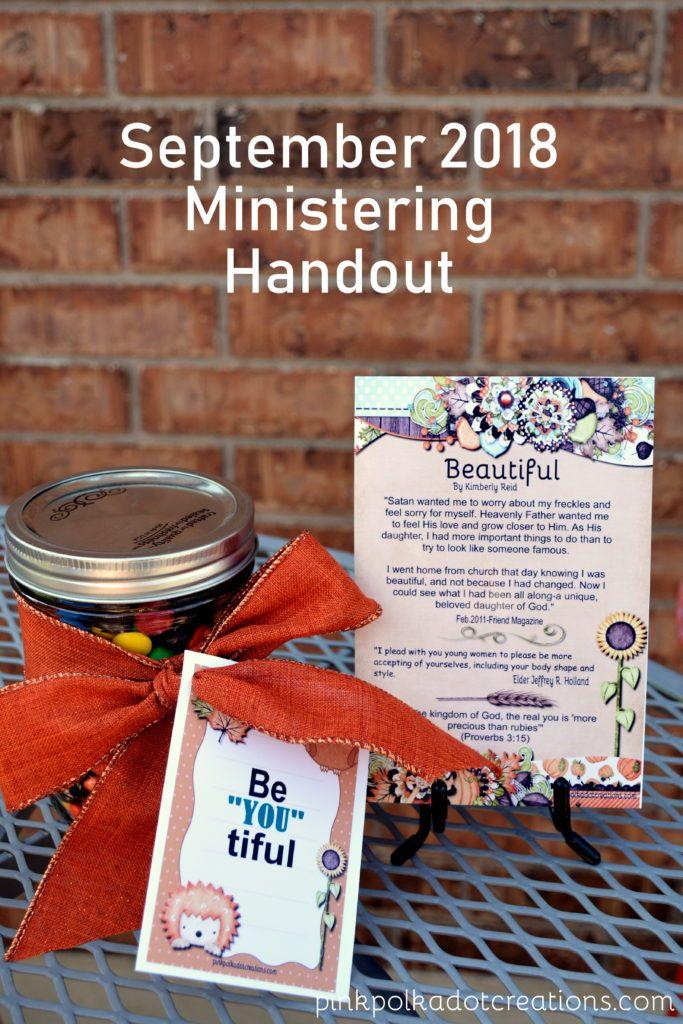 September 2018 Ministering Handout | I Am A Mormon | Visiting teaching, Visiting teaching ...