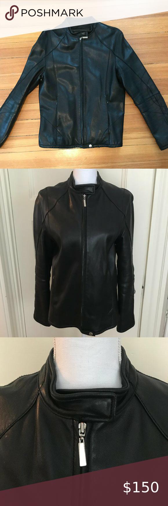 women/'s black leather jacket ... 019 Vintage LEATHER JACKET