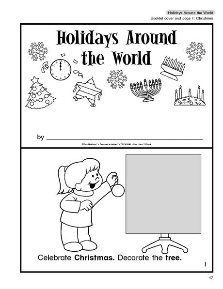 Great Free Booklet On Holidays Around The World For Pre K