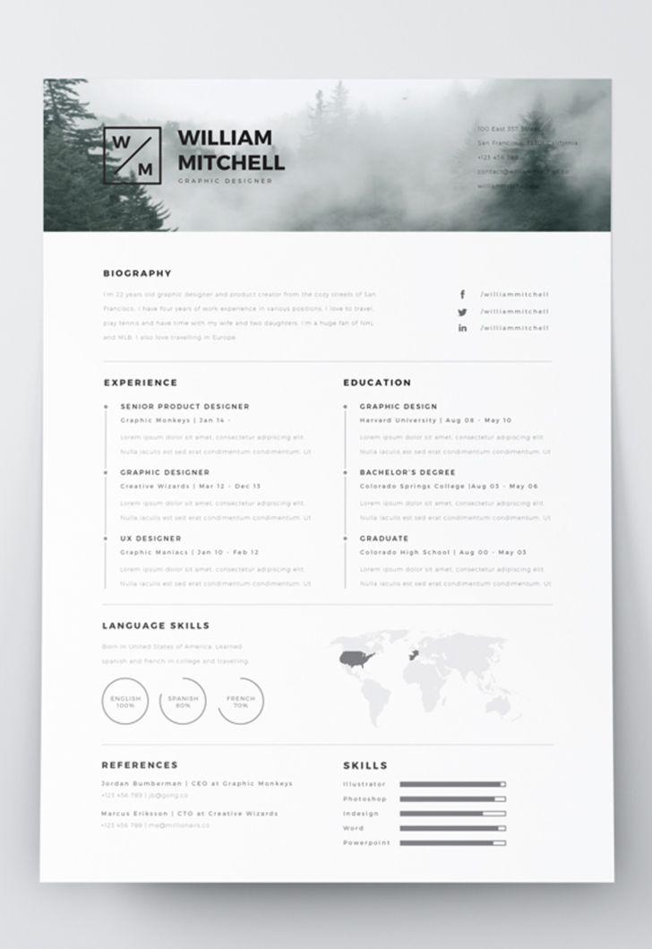 7 Free Editable Minimalist Resume Cv In Adobe Illustrator And Photoshop Format Minimalist Resume Resume Design Template Graphic Resume