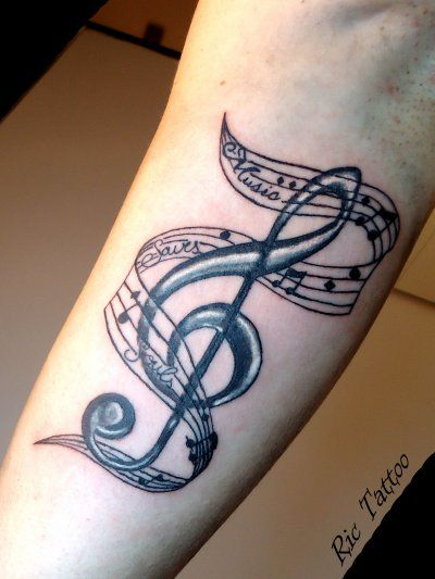 Music tattoo i want it so bad my style pinterest tatouages tatouages de musique et - Tatouage musique femme ...