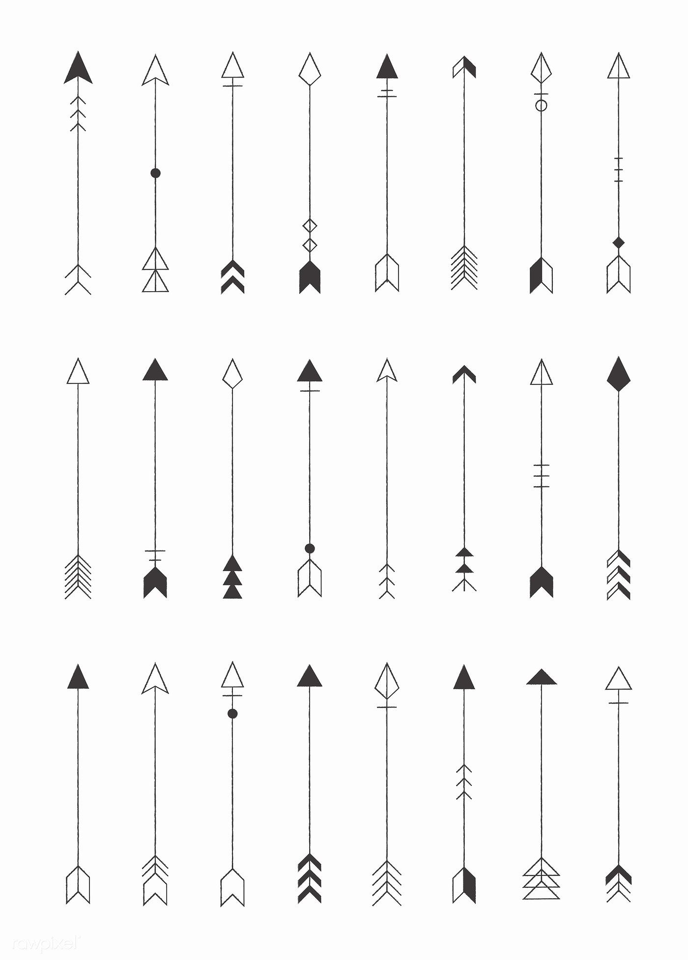 Hipster Arrows Collection Big Set Of Hand Drawn Hipster Arrows Set Of Indian Style Arrows Arrow For All Des Tatuajes Flechas Aries Tatuaje Tatuajes Hipster