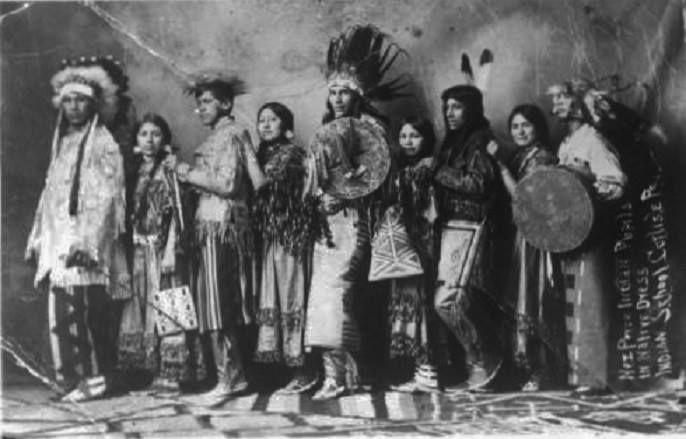 NEZ PERCE AT CARLISLE INDIAN SCHOOL , 1909
