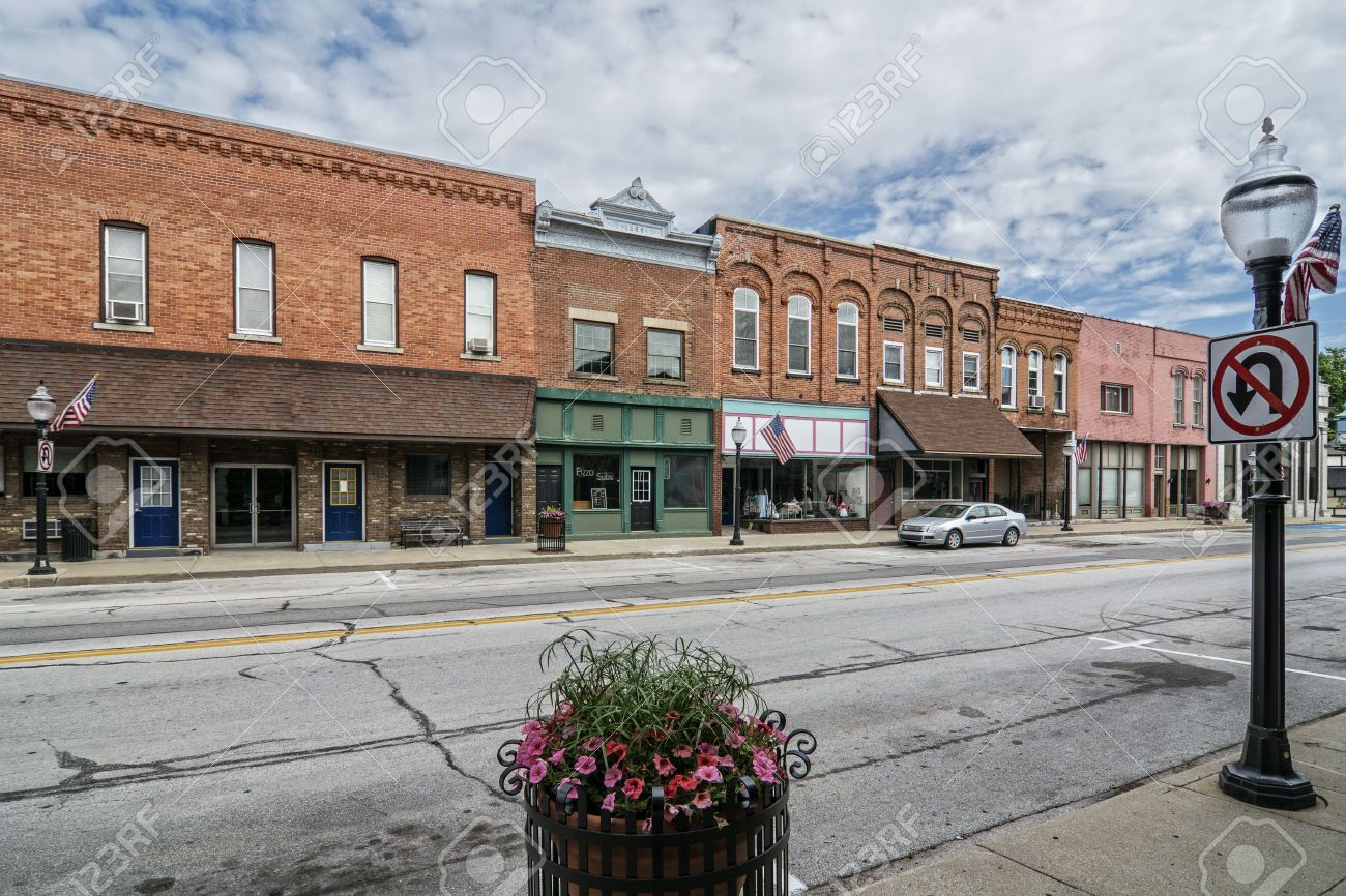 29814534 A Photo Of A Typical Small Town Main Street In