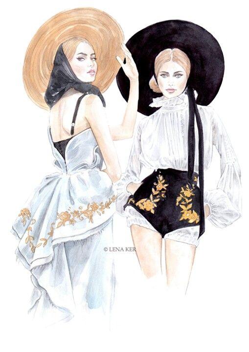 Ulyana Sergeenko couture 2013 by lena ker