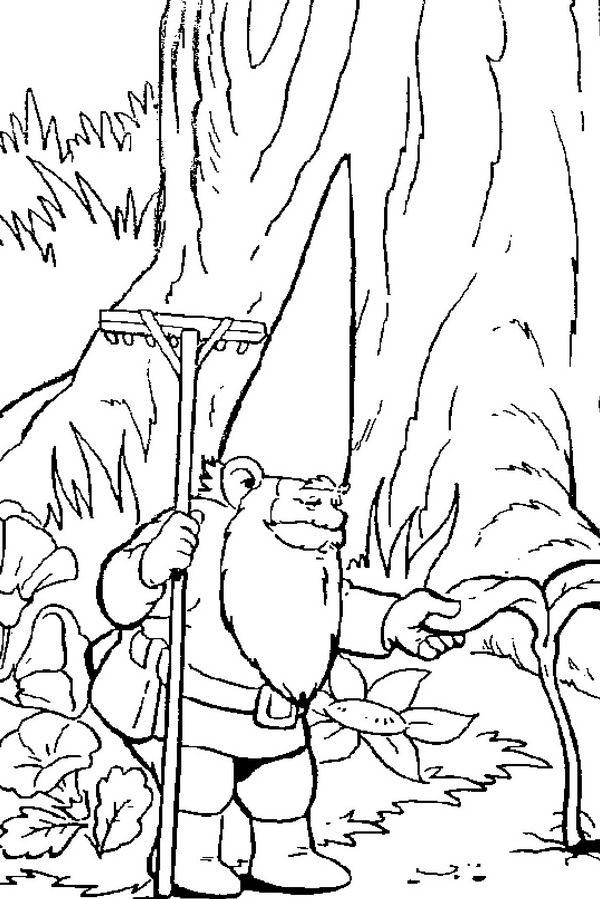 david the gnome coloring page | bocetos | Pinterest | David ...