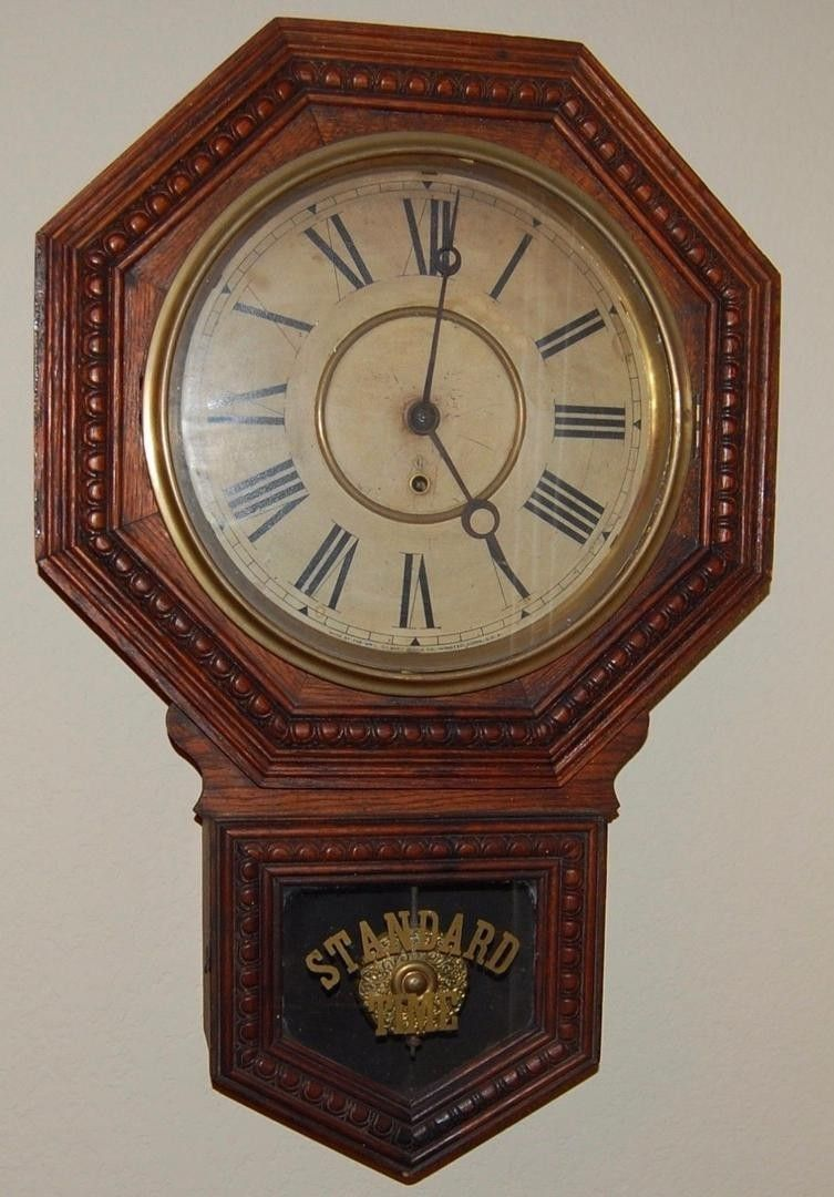 Antique american gilbert admiral model fine regulator wall clock antique american gilbert admiral model fine regulator wall clock standard time 1837722569 amipublicfo Image collections