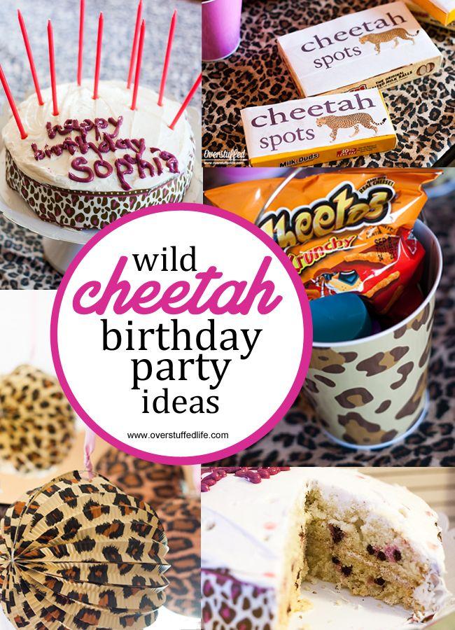 Super Simple Cheetah Birthday Party Ideas – Cheetah Birthday Invitations