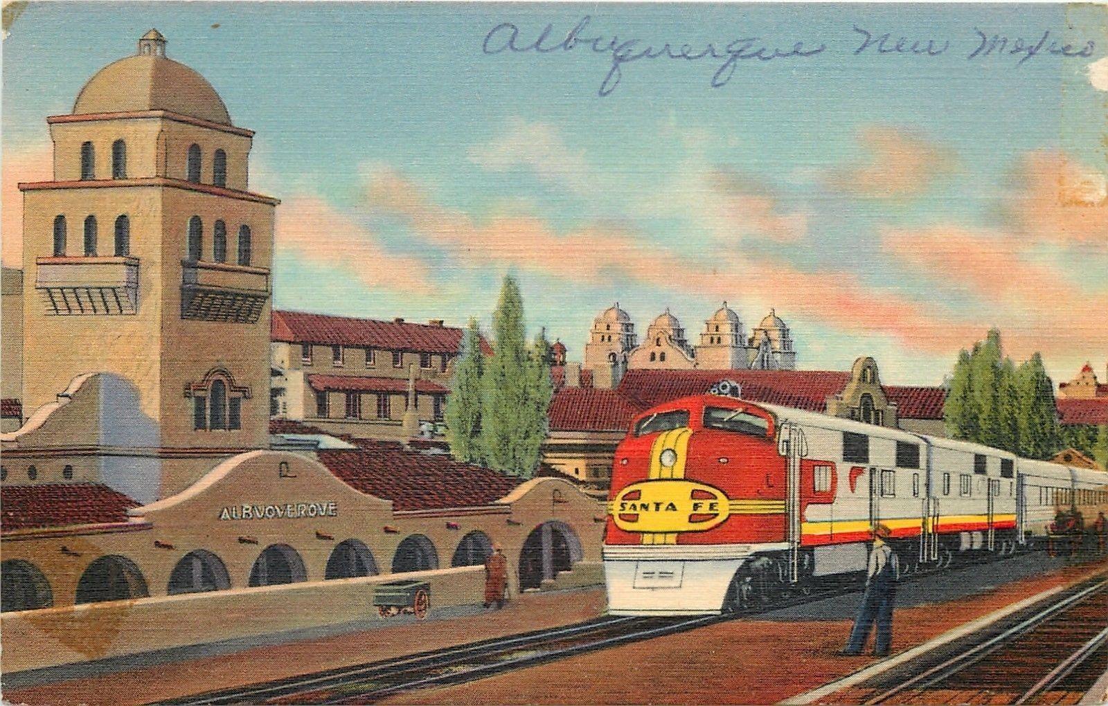 Albuquerque To Santa Fe >> Albuquerque Nm Depot Santa Fe Super Chief Streamline Train