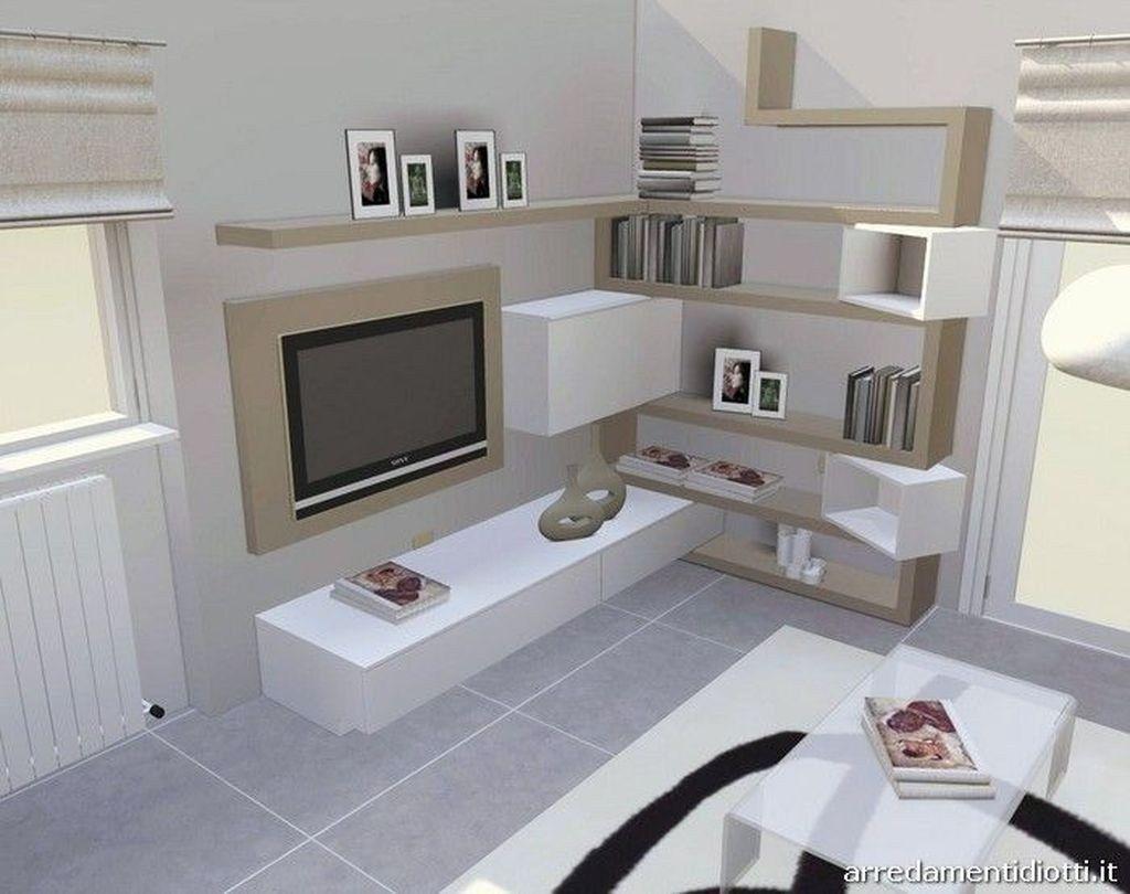 47 Incroyable Mur D Elements De Stockage Pour Votre Salon Contemporain 39 Avec Des Etag Meuble Tv En Coin Meuble Tv Style Industriel Meuble Rangement Salon