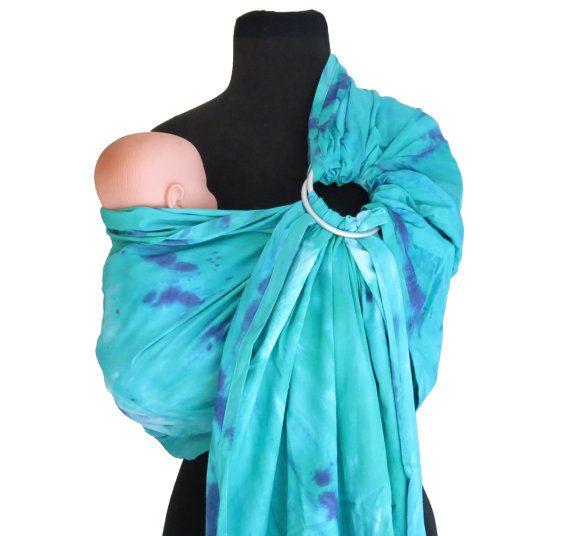 Batik Ring Sling Aqua Amp Purple Tie Dye Baby Carrier