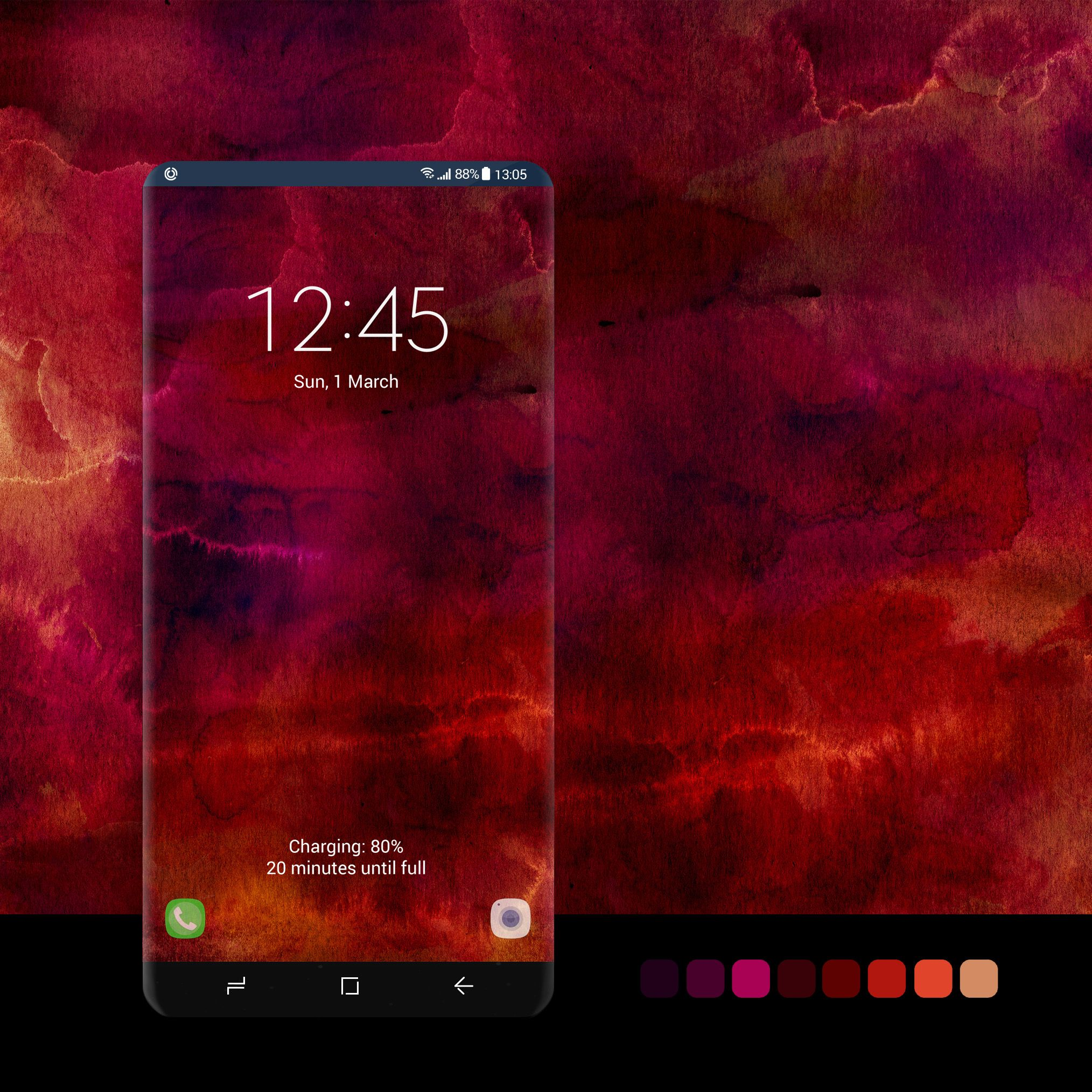 Bordo Watercolor Wallpaper Wallpaper Android Phone