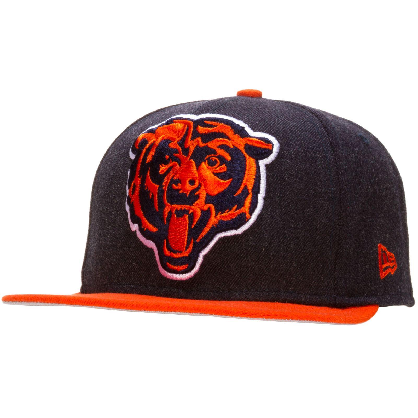 Chicago Bears Denim and Orange Oversize Angry Bear Logo