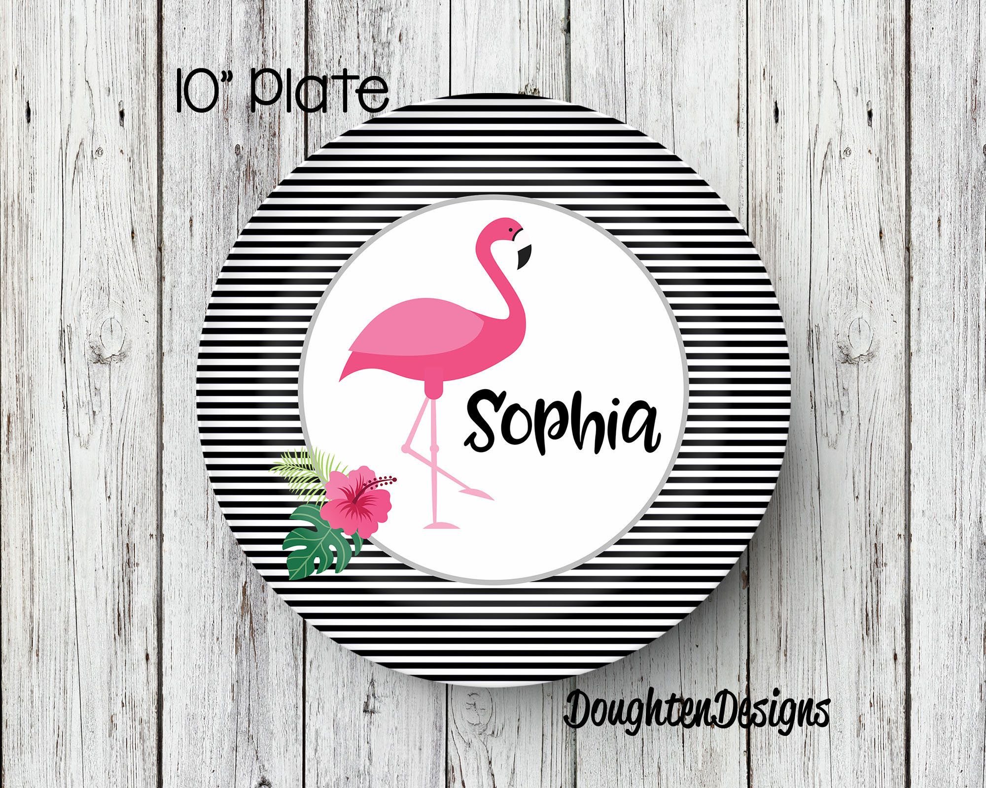 Flamingo Plate Personalized Name Plate Personalized Melamine Plate Kids Dinner Plate Toddler  sc 1 st  Pinterest & Flamingo Plate Personalized Name Plate Personalized Melamine Plate ...