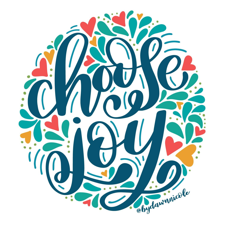 Choose Joy Folk Art Style Free Coloring Page Joy Lettering