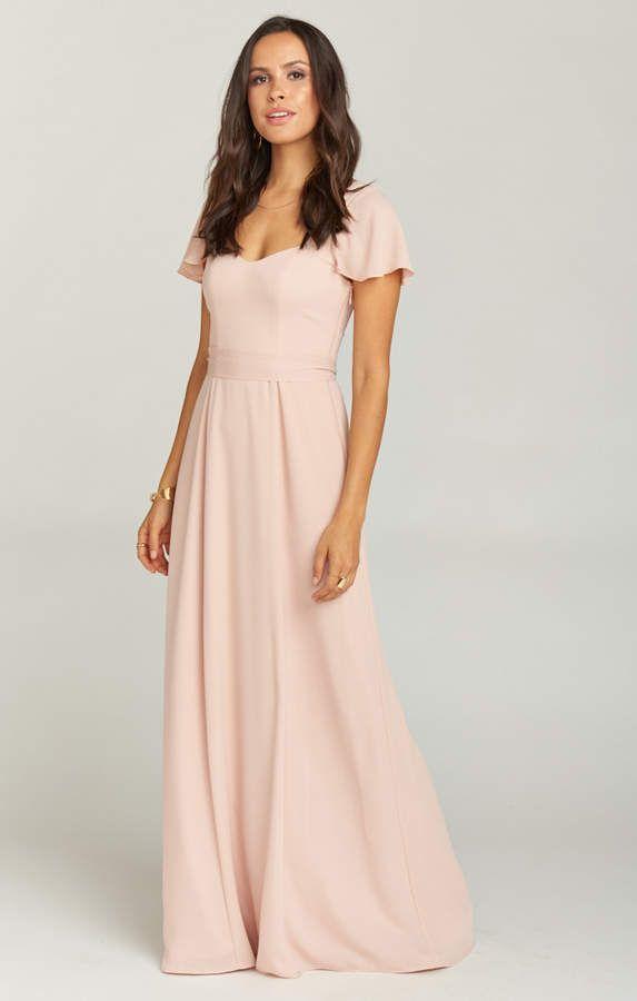 2c18c44f7a Show Me Your Mumu Marie Sweetheart Maxi Dress ~ Dusty Blush Crisp ...