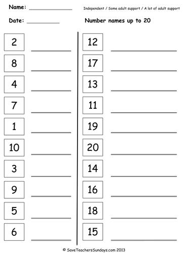 Image result for number names worksheets for grade 1 pdf ...