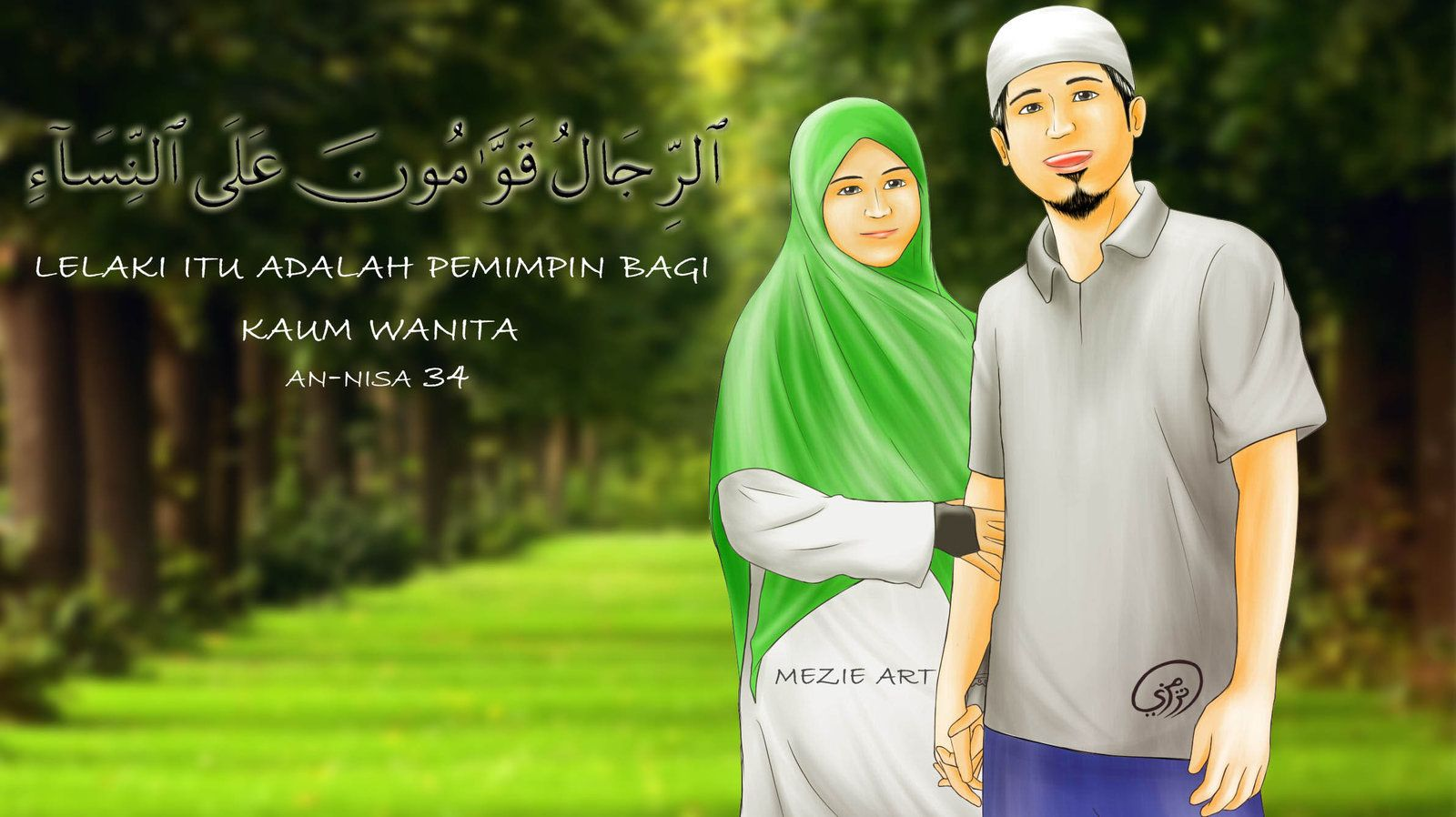 Husband and wife marry islamic ) by mezie93.deviantart