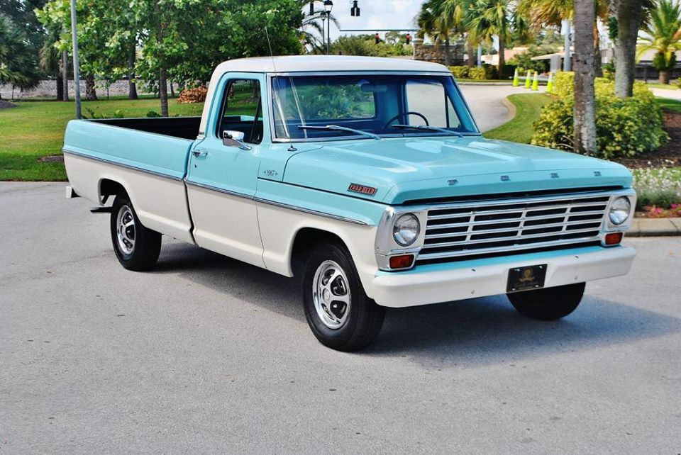 1967 390 Three On The Tree Classic Ford Trucks Ford Pickup