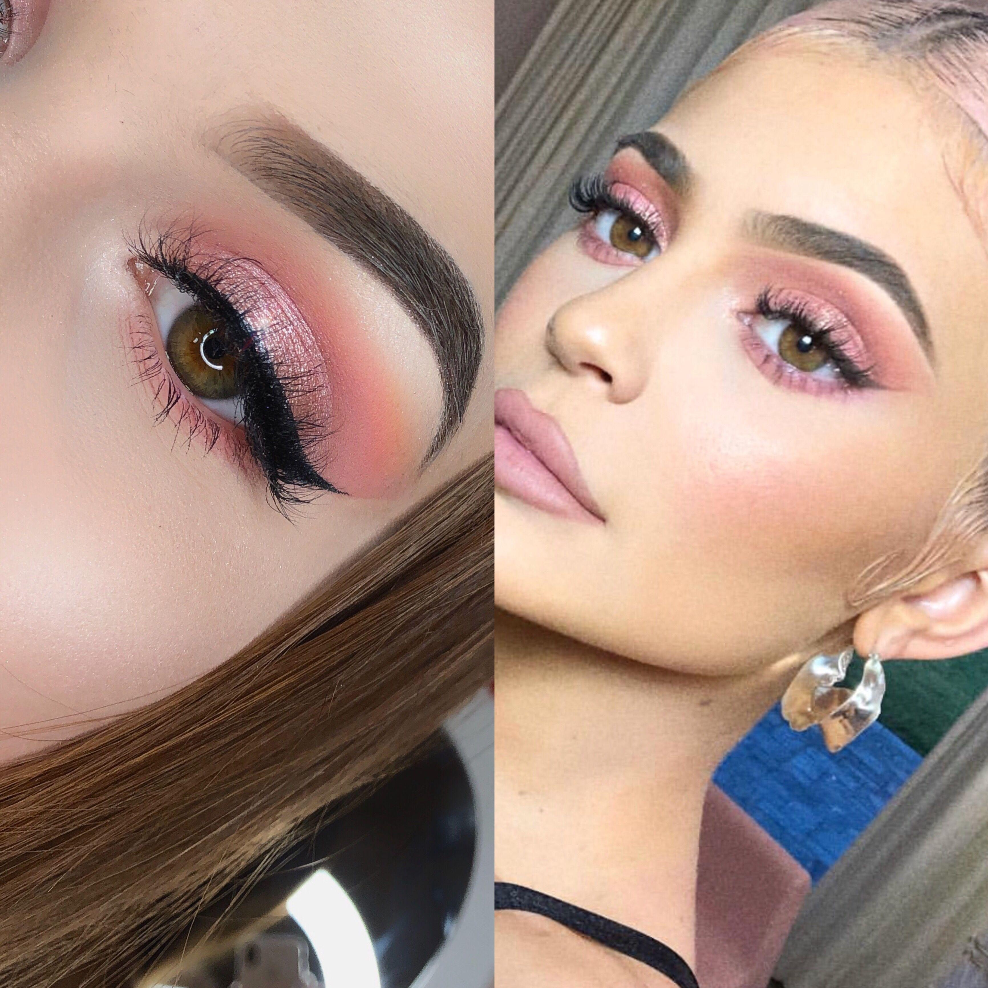 Kylie Jenner inspired Makeup my ig @emiliamup #pinkmakeup ...