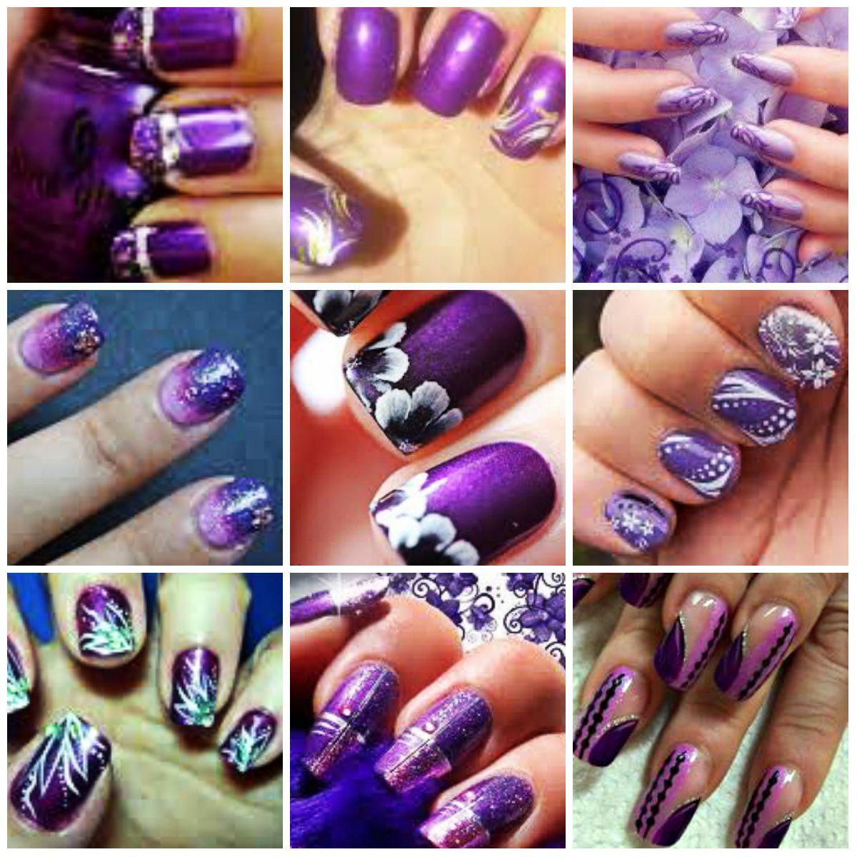 purple nail art ideas design1 nail art ideas 2013 trends - Nail Art Designs Ideas