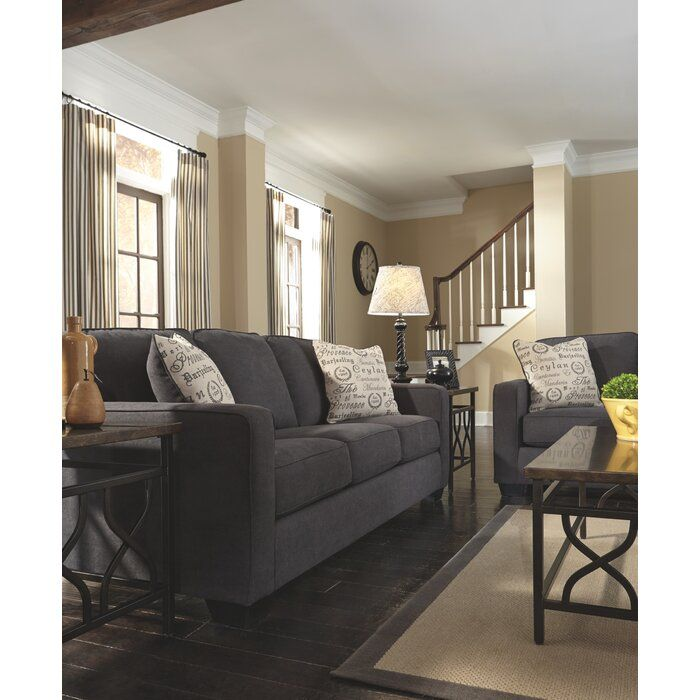 Deerpark 84 Quot Square Arm Sofa Grey Couch Living Room
