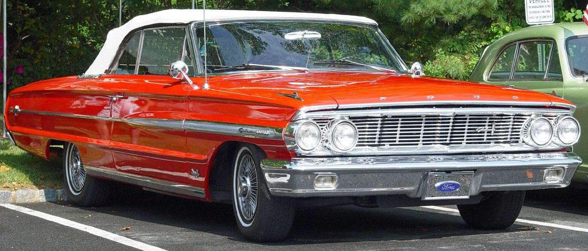 1964 Ford Galaxie 500 Fire Engine Red White Convertible Red