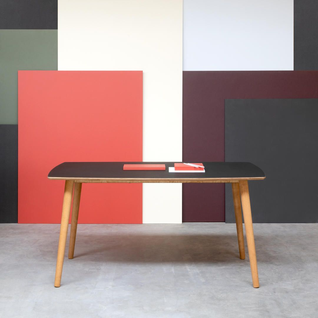 Noble Table Is Made Of Birch Plywood And Covered With Forbo