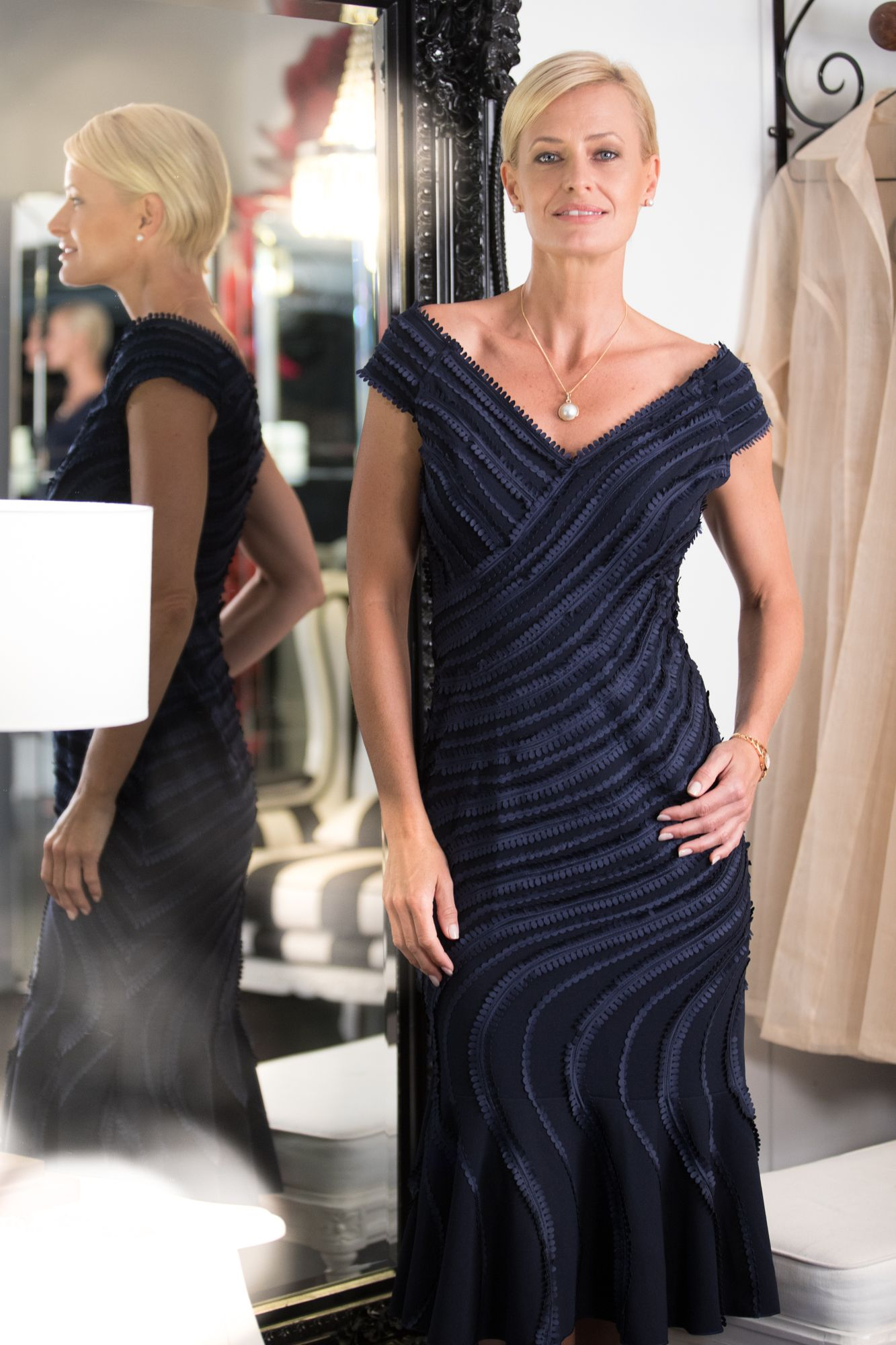 9593672267 Living Silk - specialising in navy dresses and two piece outfits with  sleeves for the modern