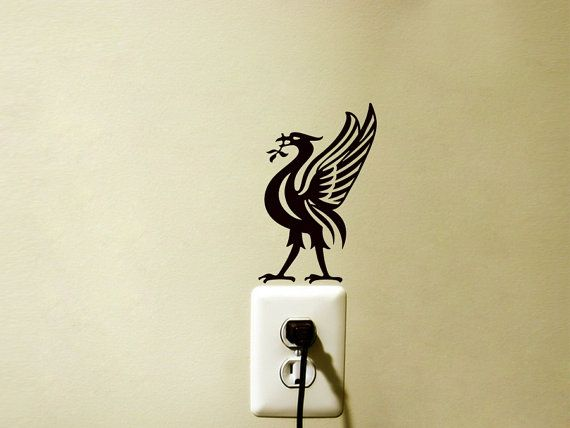 liver bird fabric decal - liverpool wall sticker - football wall art