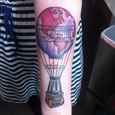 World map hot air balloon tattoo google search hot air balloon world map hot air balloon tattoo google search gumiabroncs Gallery