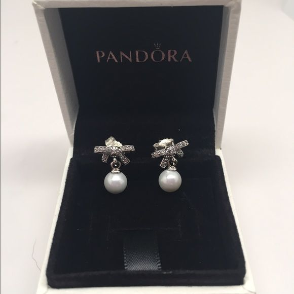 0b1607f01 Pandora delicate sentiments pearl earrings New pandora earrings Pandora  Jewelry Earrings