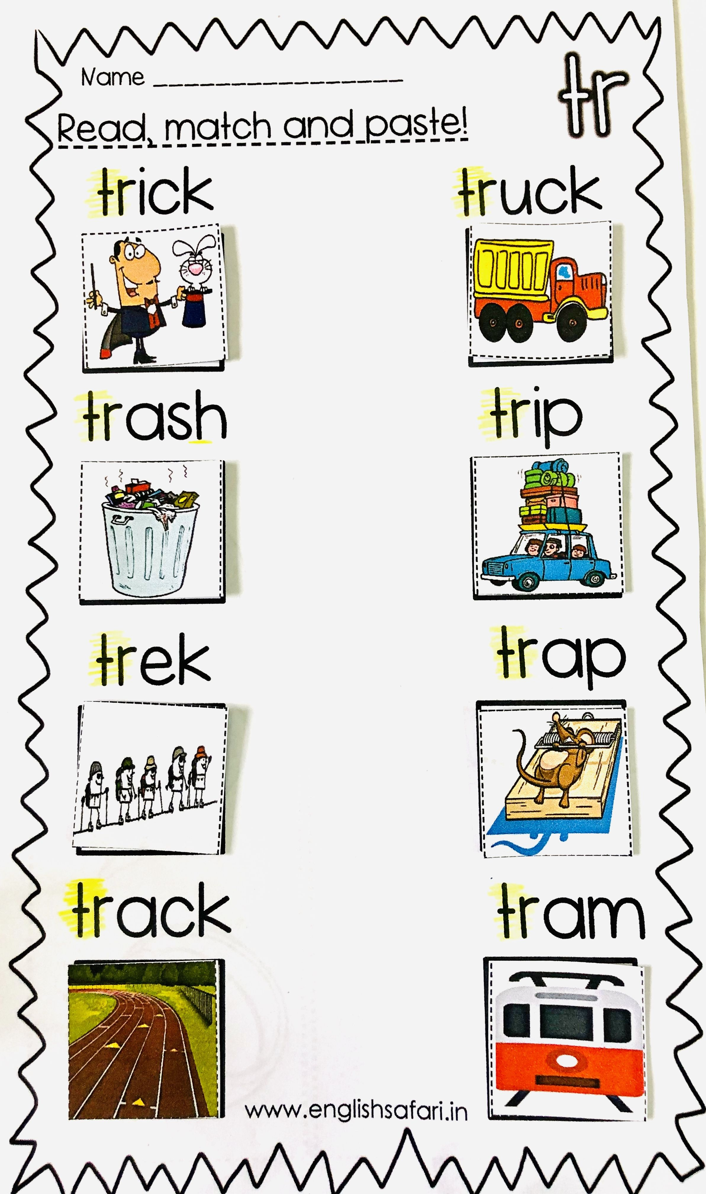 Free Consonant Blend Tr Picture Sort Worksheet Blend Words Phonics Words Blends Worksheets [ 4032 x 2385 Pixel ]