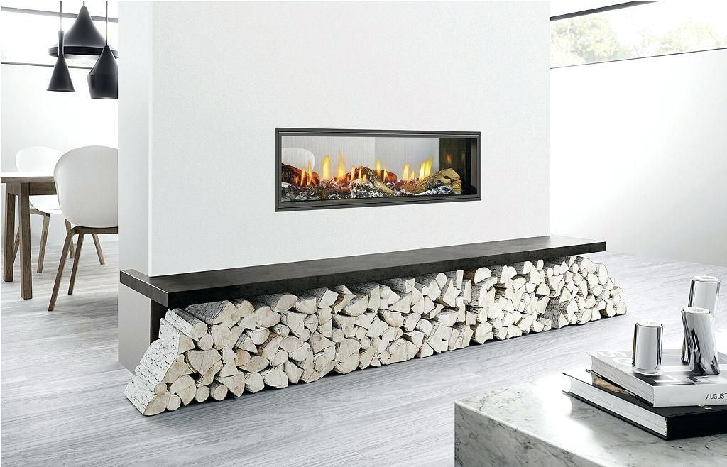 2 Sided See Through Electric Fireplace Logs Double Inserts Dimplex