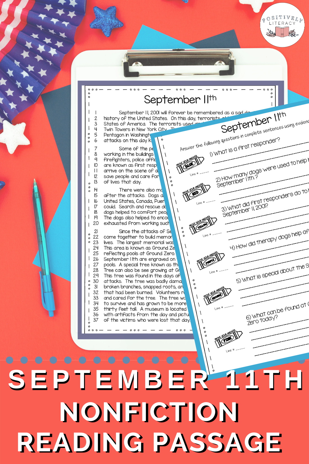 September 11th Reading Passage Reading Passages September Reading Nonfiction Texts [ 1500 x 1000 Pixel ]