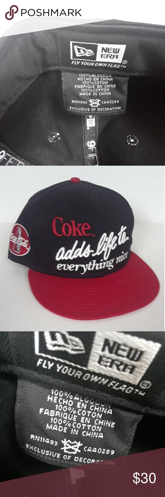 New Era Coke Coca-Cola Baseball Cap Embroidered Super cool embroidered coke  cap Excellent condition never worn New Era Accessories Hats 9395c8b02f66