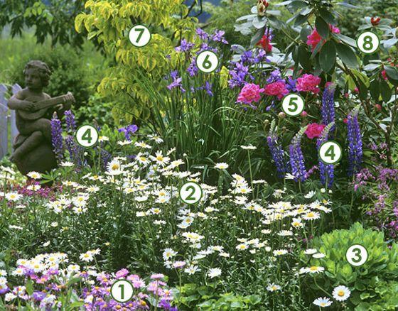 Un massif romantique en fleurs du printemps l 39 automne - Jardin contemporain et accueillant pour le printemps enidees ...