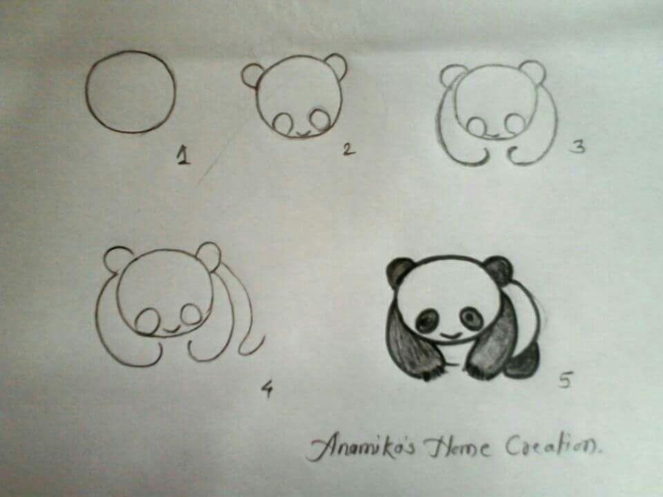 Draw A Panda Desenhos Fáceis Panda Desenho Ideias Para