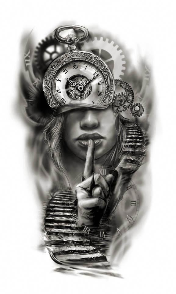 Clock Face Half Sleeve Custom Tattoo Design Idea By Tattoo Tailors Tattoosforwo Tattoos For Women Half Sleeve Half Sleeve Tattoos Designs Custom Tattoo Design