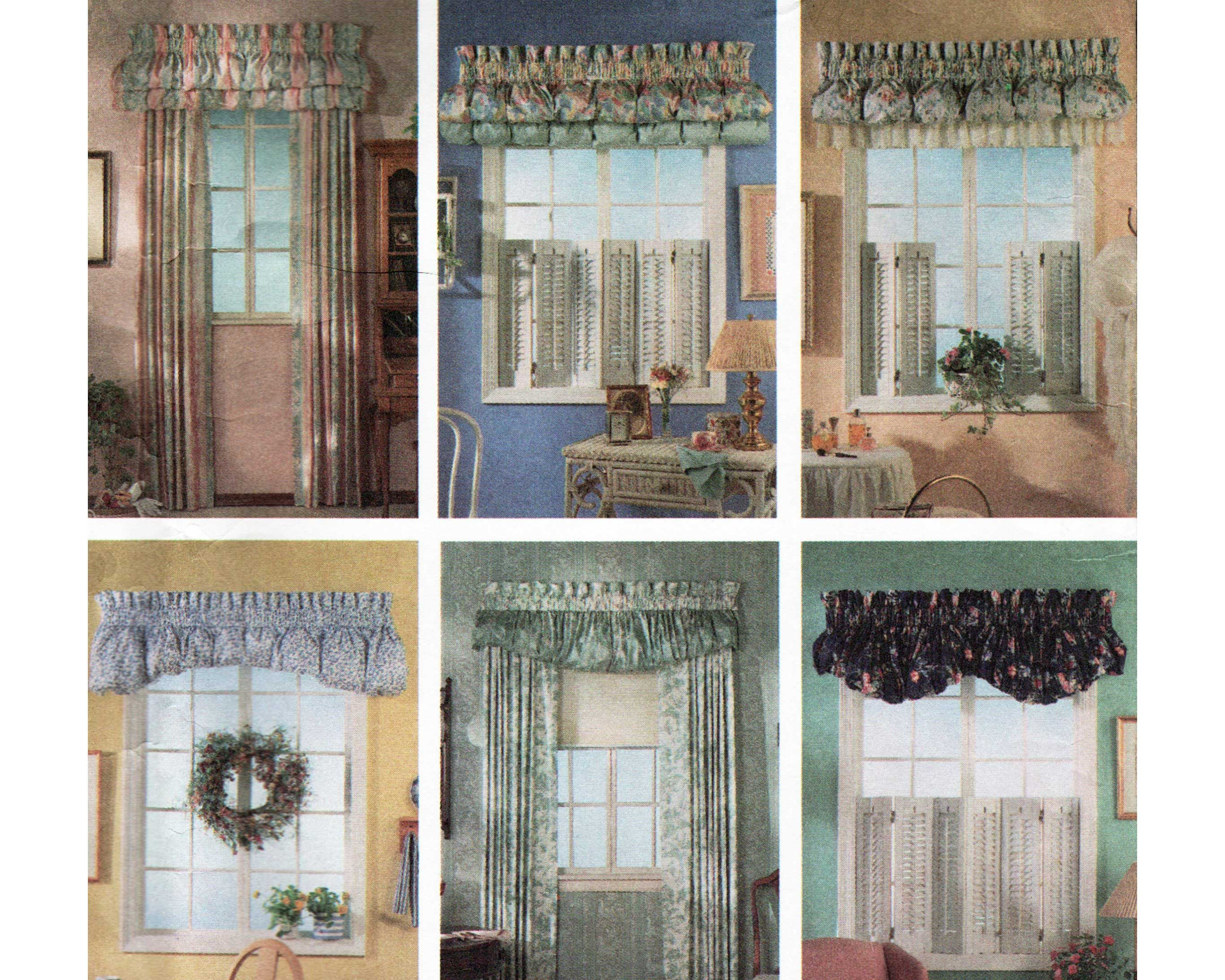 Sewing Pattern For Window Treatments Curtain Panels Pouf